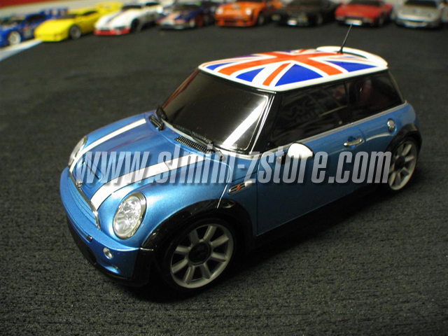 Kyosho Mr 015 Hm Mini Cooper S Union Jack Metalic Blue Body Set